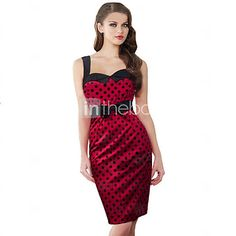 Women's Vintage Party Inelastic Sleeveless Knee-length Dress (Chiffon) - USD $15.99