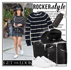 """""""Rocker style...."""" by tinuviela ❤ liked on Polyvore featuring L.L.Bean, Anine Bing, Yves Saint Laurent, adidas, Master Hatters of Texas, Bottega Veneta, GetTheLook and hats"""
