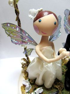 Custom Wedding Cake Topper Woodland Fairy by LovelyBertie on Etsy, £120.00