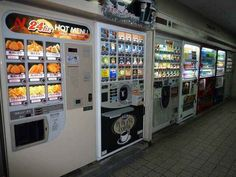 And eat hot food 24 hours a day…FROM A VENDING MACHINE.