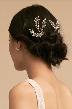 Leaflet Pin - All For Hairstyles Wavy Bob Hairstyles, Winter Hairstyles, Diy Hairstyles, Wedding Hairstyles, Diy Wedding Hair, Bridal Hair Pins, Medium Hair Styles, Short Hair Styles, Prom Hair Updo Elegant