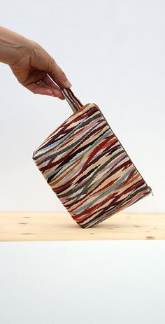 Pencil case multicolored for makeup lined by FlaviacAccessories