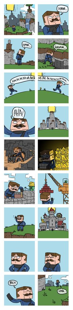 This is How You Minecraft. You get bored of your castle life and go build other homes. This is Joseph.