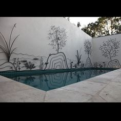 """Love this metal artwork around the pool.  This would work anywhere there's a plain wall or privacy fence.  """"Melbourne Garden Art - Overwrought Metalwork and Design - Garden Art Melbourne"""""""