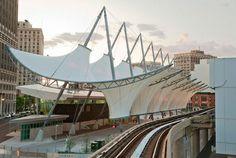 Rosa Parks Transit Center, Detroit - FTL Design Engineering Studio, project architect Parson Brikerhoff, MI
