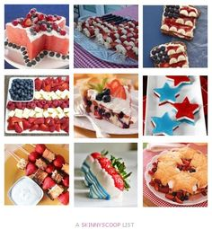 4th of July desserts! Memorial Day Desserts, 4th Of July Desserts, Fourth Of July Food, 4th Of July Party, July 4th, Patriotic Party, America Birthday, Summer Fun, Summer Ideas