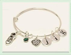 Irish Dance Bangle Bracelet JIG TIME Sterling Silver by Triskelt