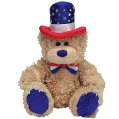 TY Beanie Babies Independence Bear (Blue Feet Version) $5.95