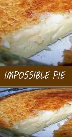 Impossible Pie, Pie Dessert, Dessert Recipes, Easy Desserts, Delicious Desserts, Puff And Pie, Good Pie, Cream Pie Recipes, How Sweet Eats
