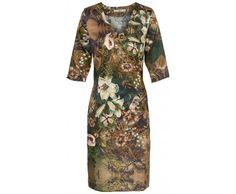 Dressfactor F-lijn jurk zijde Golden Lily
