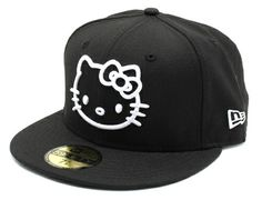 9c32897a9e0 Black Hello Kitty 59Fifty Fitted Cap by SANRIO x NEW ERA Fitted Baseball  Caps