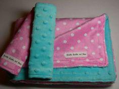 Blanket and burp cloths