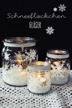 On peut faire de magnifiques décorations d'hiver avec des bocaux en verre, voici quelques exemples! - DIY Idees Creatives