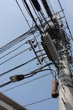 Electric poles at Setagaya