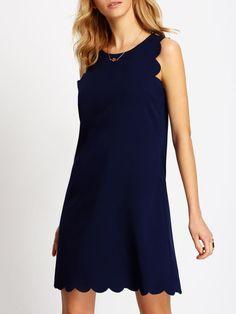 robe sans manche bleu royale
