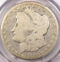 1893-CC Morgan Silver Dollar $1 - PCGS G4 - Rare Certified Carson City Coin