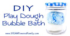 3 Ingredient Play Dough Bubble Bath - Super Simple, Super Awesome, Easy clean fun!