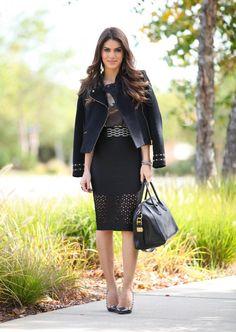 Meu look: Pencil skirt