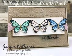stampin up butterfly gala vintage tin tile colour inkspiration color challenge Birthday Card Messages, Birthday Cards, Birthday Parties, Stampin Up Anleitung, Stamping Up, Rubber Stamping, Card Sketches, Vintage Cards, Homemade Cards