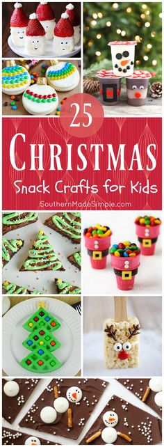 Edible Christmas Crafts for Kids 25 Snack-tastic craft ideas for kiddos to make.just in time for Snack-tastic craft ideas for kiddos to make.just in time for Christmas! Holiday Snacks, Christmas Snacks, Christmas Cooking, Noel Christmas, Christmas Crafts For Kids, Christmas Goodies, Christmas Candy, Christmas Gifts, Christmas Decorations