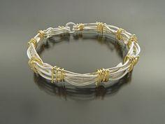 Bird's Nest Bracelet. 18 kt. Gold, Sterling Silver. Sana Doumet