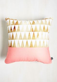 Point Taken Pillow. Again and again, you preach the importance of this triangle-printed pillow to your friends. #multi #modcloth