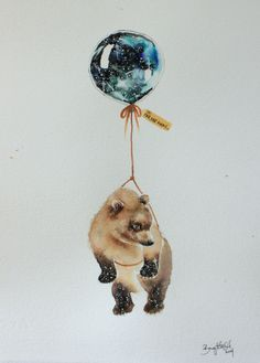 Far, Far Away IX  #nursery #illustration #art #bear