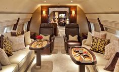 $87 million dollar private plane has a luxury apartment inside 3