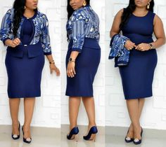 arrive Print plus size women African mother dress jacket dress suit two piece set dress 8829 Classy Work Outfits, Office Outfits Women, Office Fashion Women, Latest African Fashion Dresses, Women's Fashion Dresses, Ladies Plus Size Dresses, Mothers Dresses, Office Wear, Outfit Office
