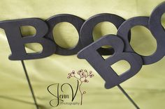 """BOO"" glasses tutorial. Great for a party or photo prop!"