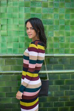 Whistles stripe knit dress - Jazzabelle's Diary autumn style