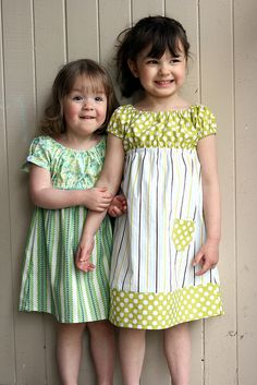 """Sweet little dress variation - """"I cut the bodice and skirt separately, attached them with a french seam and used that channel to add and elastic waist,."""""""