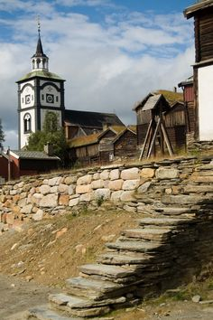 The historic mining town of Røros, Norway