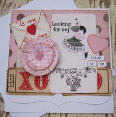 Valentine Card Handmade Valentine  Valentine by SweetLibertyBarn