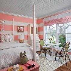 Coral Pink Bedroom