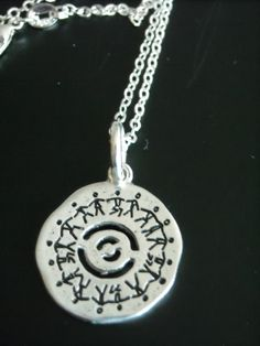 NEW ~ Silver ~ Love is a Circle of Friends ~ Rare and Beautiful Necklace by GlamRusJewels on Etsy