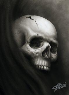 Skull speed paint by RodgerPister on DeviantArt