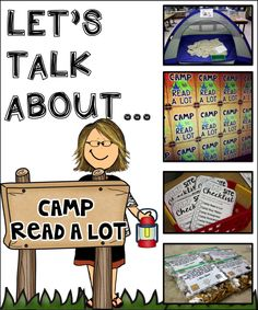 Camp Read-a-Lot was a really fun way for my graders to practice fluency comprehension phonics writing addition money time and collaboration with peers! Take a look at how this teacher made it work in her classroom! Read A Thon, Read Across America Day, Reading Themes, Ar Reading, Theme Days, Little Learners, Camping Activities, Classroom Themes, Classroom Camping Theme