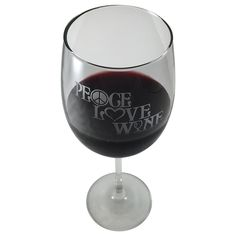 For Flower Children of all ages!  Well, drinking age anyway... these Peace Love Wine glasses help us chill after a stressful day...