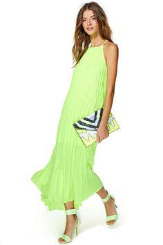 Looks cool and fresh Shift Dresses, Neon Dresses, Unique Prom Dresses, Summer Dresses, Beach Dresses, Summer Maxi, Summer Outfits, Maxis, Cute Maxi Dress