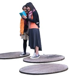 Two Asian girls cutout
