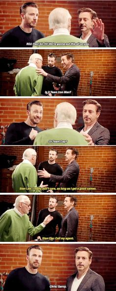 Stan Lee's is team Stan Lee Marvel Jokes, Marvel Funny, Marvel Dc Comics, Marvel Avengers, Avengers Memes, Destiel, Johnlock, Dc Memes, Downey Junior