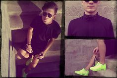 Serge Doronin Black Cotton Long Polo, Serge Doronin Leather Bow Tie, Ray Ban Sunglasses, Nike Air Max 90hp