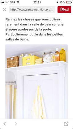 Astuce rangement salle de bain