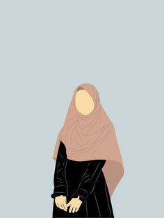 Quran Wallpaper, Islamic Wallpaper, Girl Cartoon, Cartoon Art, Muslim Images, Cover Wattpad, Hijab Drawing, Islamic Cartoon, Anime Muslim