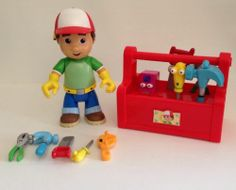 Disney Handy Manny Lot Toy Tools Toolbox Doll Talking Singing Spanish Mattel $74.99 w/free US ship. #handymanny #disneyhandymanny