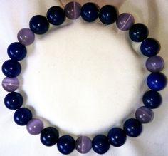 Purple Opal Lapislazuli Heilstein Perlen Armband