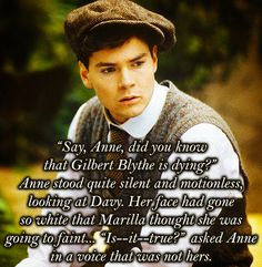 All of these are breaking my heart.  For anyone who did not know, Jonathan Crombie, who played Gil in the movies, died this week of a brain hemorrhage.