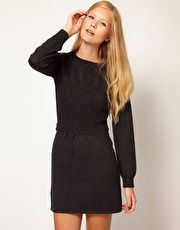 Vanessa Bruno Athé Knitted Dress with Cable Detail