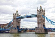 Tower Bridge is a combined bascule and suspension bridge in London, over the River Thames. A very iconic symbol of London.
